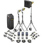 Dedolight DLED4-D Daylight LED 3-Light Standard Kit (Mains & Battery Operation)