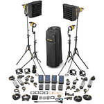 Dedolight DLED4-BI Bi-Color LED 4-Light Master Kit (Mains & Battery Operation)