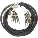 "Pro Co Sound MT8BQBQ-20 Analog Harness Cable 8x 1/4"" TRS Phone Male to 8x 1/4"" TRS Phone Male (20')"