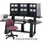 Winsted Monitoring Desk with Riser (Black)