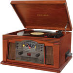 Crosley Radio Lancaster Sound System with Turntable, Cassette, CD, and AM/FM Radio (Paprika)