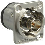 Switchcraft EH Series 75Ω Isolated BNC Female Feedthrough Jack Connector (Nickel)