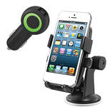 iOttie Easy One Touch Universal Car Mount Holder with Rapid Volt Dual Port USB Car Charger Kit