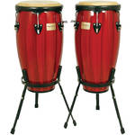 "Tycoon Percussion 11.75"" & 12.5"" Artists Hand Painted Series Congas (Red)"