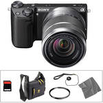 Sony Alpha NEX-5R Mirrorless Digital Camera with 18-55mm Zoom Lens Basic Accessory Kit (Black)
