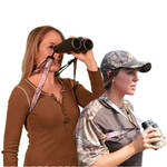 Crooked Horn Outfitters Bino-System Binocular Harness (Realtree All Purpose Pink Camo)