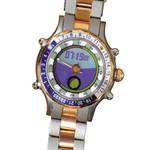 Yes Watch Marine INCA 24 Hour Bezel/24 Hour Dial Watch (Rose Gold and Navy Blue)