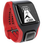 TomTom Multi-Sport Cardio GPS Watch with Cadence/Speed Sensors + Altimeter (Black/Red)