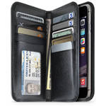 iLuv Jstyle Leather Wallet Case for iPhone 6 Plus/6s Plus (Black)