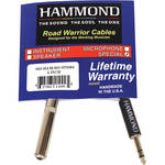 "Hammond 1/4"" Mono Female to Stereo Male Cable Adapter (6"")"