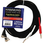"Hammond OPIQA 25' Quad-Core, 1/4"" Right Angle to 1/4"" Straight Cable (Pair)"