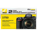 Nikon 2-Year Extended Service Coverage for D750 DSLR Camera