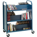 Bretford 6-Shelf Heavy-Duty Steel Booktruck (Gray Mist)