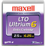 Maxell LTO Ultrium 6 Tape Cartridge with Label (Black)