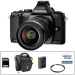 Olympus OM-D E-M5 Mirrorless Micro Four Thirds Digital Camera Deluxe Kit with 12-50mm Lens (Black)