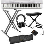 Casio PX-150 88-Key Piano Essentials Bundle (White)