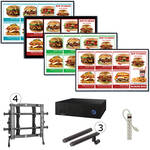 "AOPEN nTAKE PRO with Four 42"" LED Monitors Wall-Mounted Digital Signage Kit"