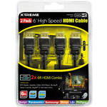 Xtreme Cables High-Speed HDMI Cable With Ethernet - 6' (2-Pack)