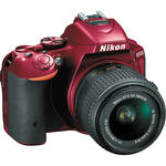Nikon D5500 DSLR Camera with 18-55mm Lens (Red)