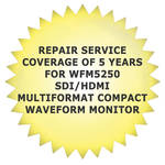 Tektronix Repair Service Coverage of 5 Years for WFM5250 SDI/HDMI Multiformat Compact Waveform Monitor