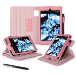 "rooCASE Dual View Folio Case Cover for Amazon Kindle Fire HD 6"" (2014 Ed.) (Pink)"