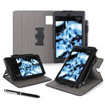 "rooCASE Dual View Folio Case Cover for Amazon Kindle Fire HD 6"" (2014 Ed.) (Black)"