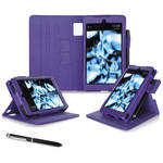 "rooCASE Dual View Folio Case Cover for Amazon Kindle Fire HD 6"" (2014 Ed.) (Purple)"