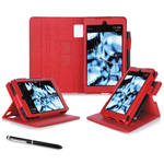 "rooCASE Dual View Folio Case Cover for Amazon Kindle Fire HD 6"" (2014 Ed.) (Red)"