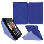 rooCASE Origami Slim Shell Folio Case Cover for Amazon Fire 2014 HD 7 (Palatinate Blue/Aruba Blue)