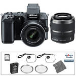 Nikon 1 V2 Mirrorless Digital Camera Deluxe Accessory Kit with 10-30mm and 30-110mm Lenses (Black)