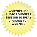 Tektronix WVR7UPALOG Audio Loudness Session Display Upgrade for WVR7000