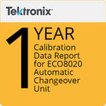 Tektronix Tektronix 1-Year Calibration Data Report for ECO8020 Automatic Changeover Unit