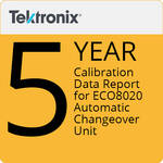 Tektronix Tektronix 5-Year Calibration Data Report for ECO8020 Automatic Changeover Unit