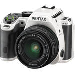 Pentax K-S2 DSLR Camera with 18-50mm Lens (White with Racing Stripe)
