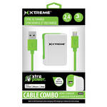 Xtreme Cables 2.4 Amp Home Charger with 8-pin Cable, 3' (Green)