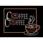 "Porta-Trace / Gagne LED Light Panel with Coffee Logo (11 x 18"")"