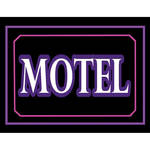 "Porta-Trace / Gagne LED Light Panel with Motel Logo (11 x 18"")"