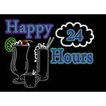 "Porta-Trace / Gagne LED Light Panel with Happy Hours 24 Logo (24 x 36"")"