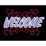 "Porta-Trace / Gagne LED Light Panel with Welcome Logo (11 x 18"")"