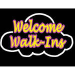 "Porta-Trace / Gagne LED Light Panel with Welcome Walk-Ins Logo (24 x 36"")"