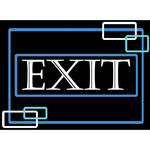 "Porta-Trace / Gagne LED Light Panel with Exit Logo (11 x 18"")"