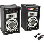Pyle Pro PSUFM837BT Disco Jam Powered 2-Way PA Bluetooth Speaker System (Dual 800W)