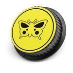 LenzBuddy Butterfly Rear Lens Cap for Canon (Yellow)