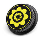 LenzBuddy Flower Rear Lens Cap for Canon (Yellow)