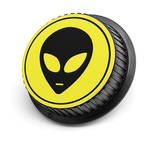 LenzBuddy Alien Rear Lens Cap for Nikon Cameras (Yellow)