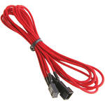 "BitFenix Alchemy Fan Extension Cable (35.4"", Red Sleeve/Black Connectors)"