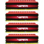 Patriot Viper 4 DDR4 PC4-19200 16GB (4 x 4GB) 2400 MHz UDIMM Kit (Black/Red)
