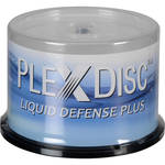 PlexDisc DVD-R Glossy White Inkjet Hub Printable Discs with Liquid Defense Plus (50-Pack)