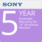 "Sony 5-Year Extended Warranty for 14"" Broadcast Monitor"