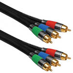 Pearstone Gold Series 3 RCA Male to 3 RCA Male Component Video Cable - 6'